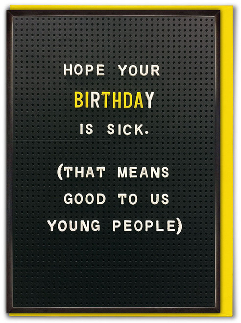 Sick Birthday Greetings Card