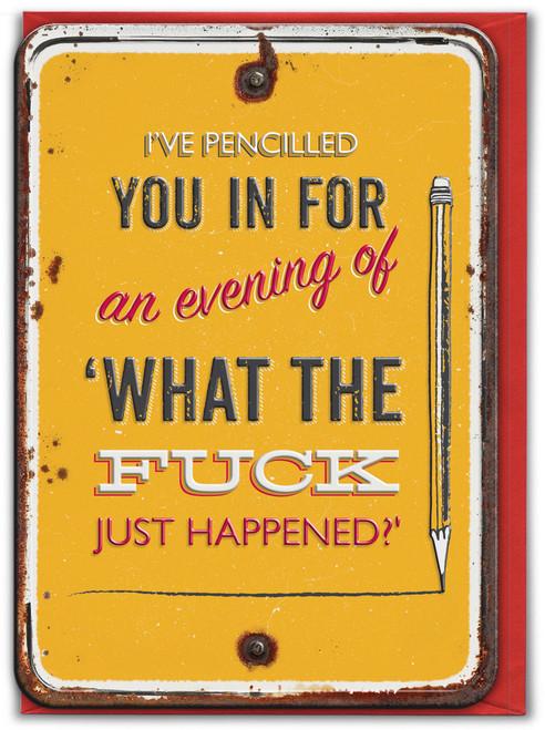 WTF Embossed Birthday Card