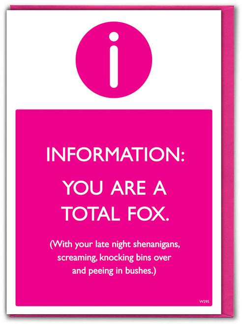Total Fox Birthday Card