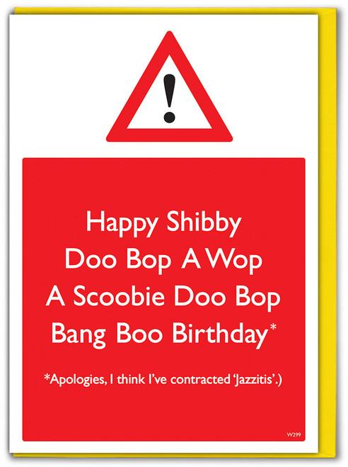 Jazzitis Birthday Card