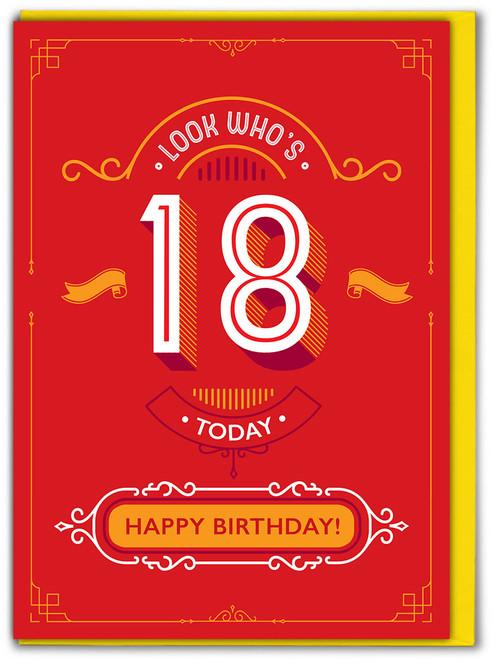 18th Birthday Greetings Card (TYPE013)