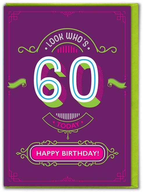 60th Birthday Greetings Card (TYPE018)