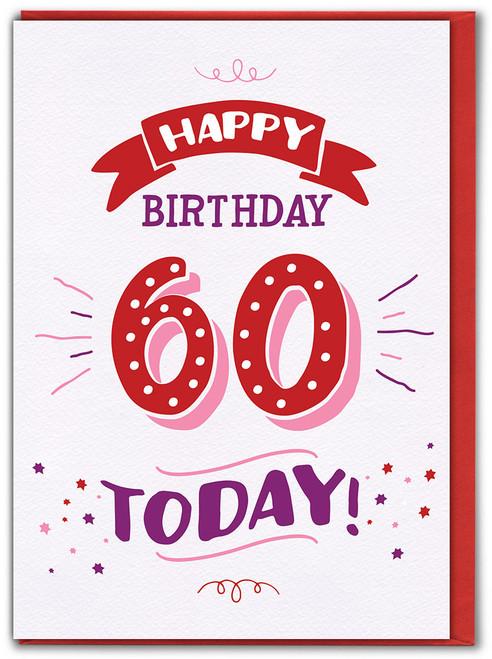 60th Birthday Greetings Card (FIZZ054)