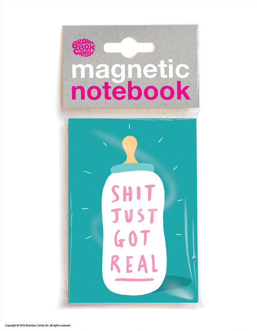Shit Got Real Magnetic Notebook