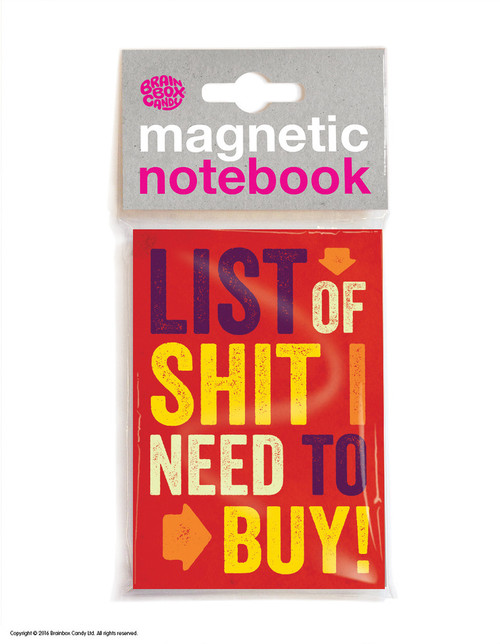 List Of Shit Magnetic Notebook
