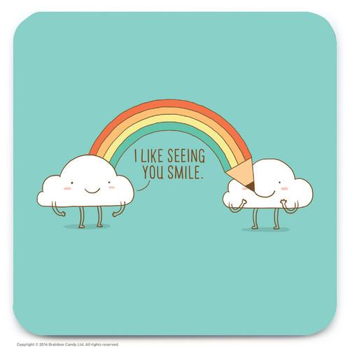 Happy Clouds Coaster