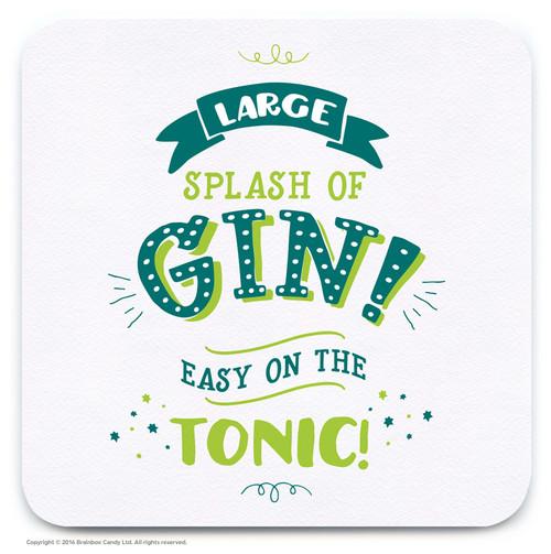 Large Splash Of Gin Coaster