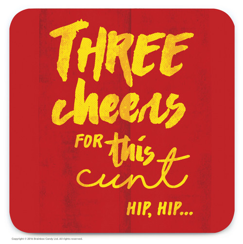 Three Cheers Coaster