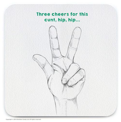 Three Cheers Coaster (CHAND003)