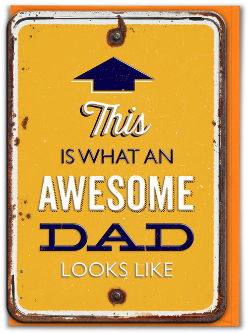 Awesome Dad Looks Like Embossed Father's Day Card