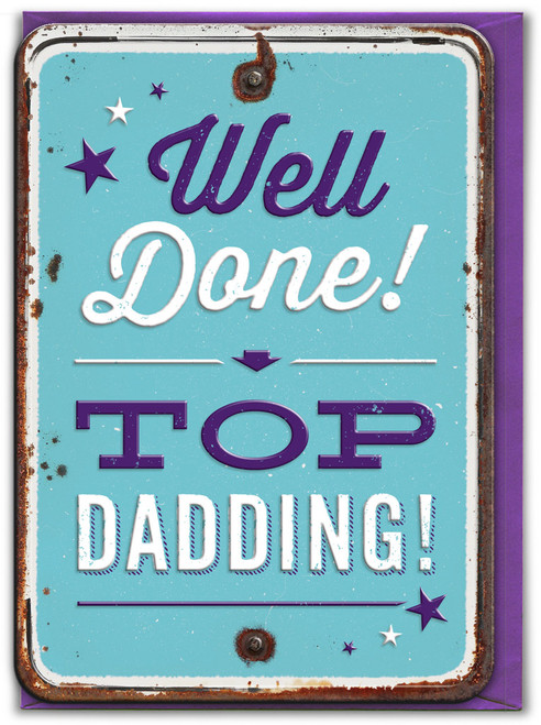 Top Dadding! Embossed Father's Day Card