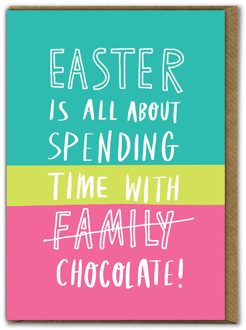 Time With Chocolate Easter Card