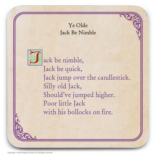 Jack Be Nimble Coaster