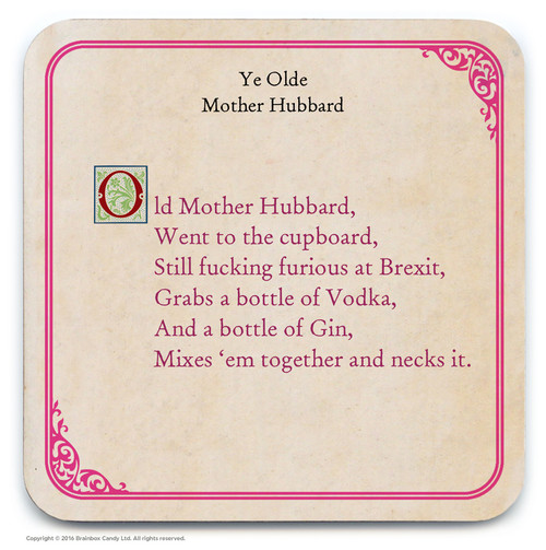 Old Mother Hubbard Coaster