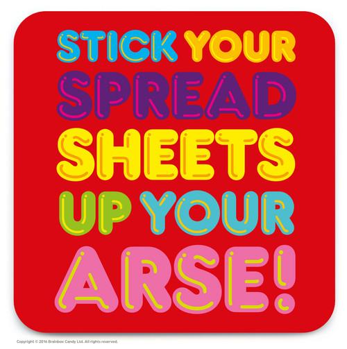 Spreadsheets Arse Coaster