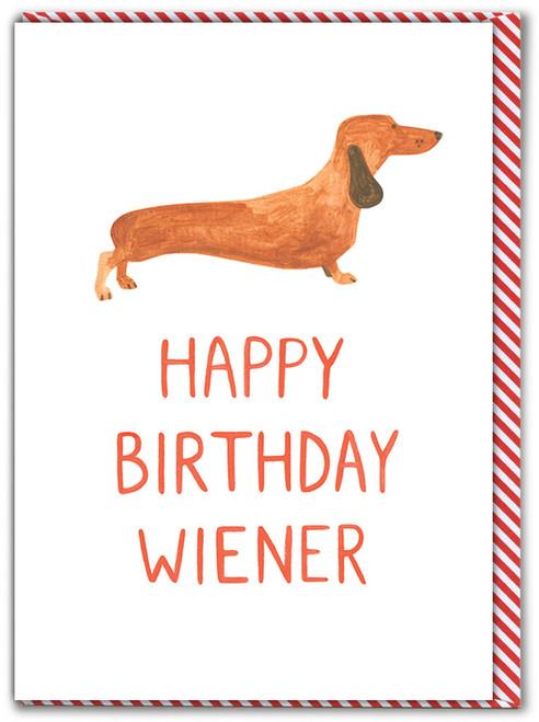 Birthday Wiener Greetings Card