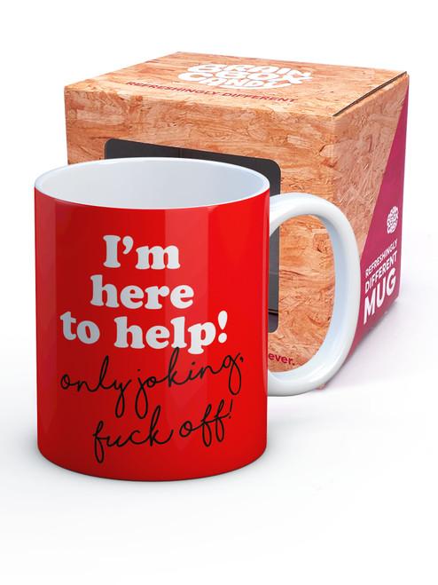 I'm Here To Help! Boxed Mug