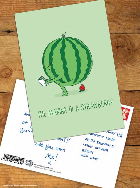 Making A Strawberry Postcard