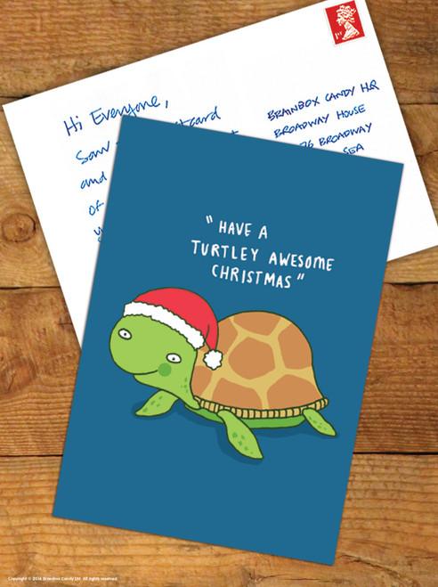 Turtley Awesome Christmas Postcard