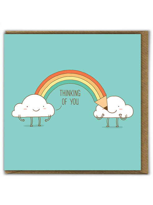 Thinking Of You Rainbow Greetings Card