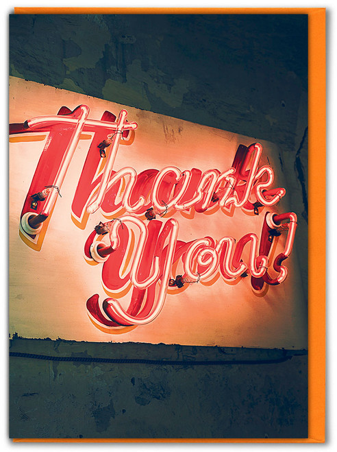 Thank You! Neon Sign Greetings Card