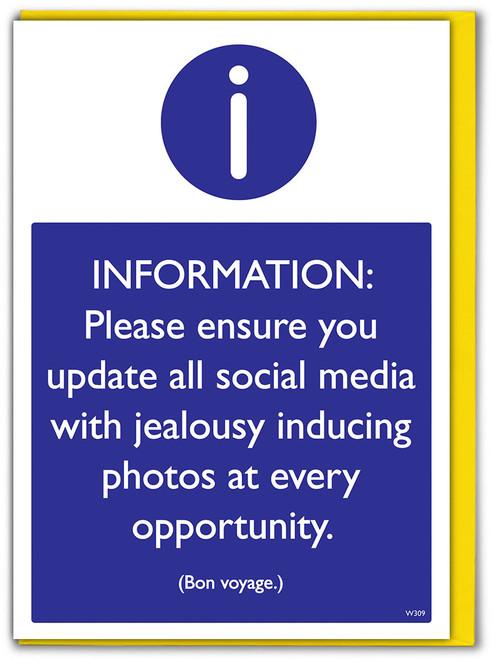 Bon Voyage Update Social Media Greetings Card