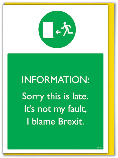 Belated Brexit Greetings Card