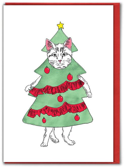 Catmas Tree Christmas Card