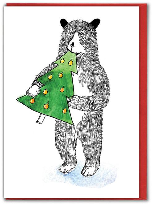 Bear Tree Christmas Card