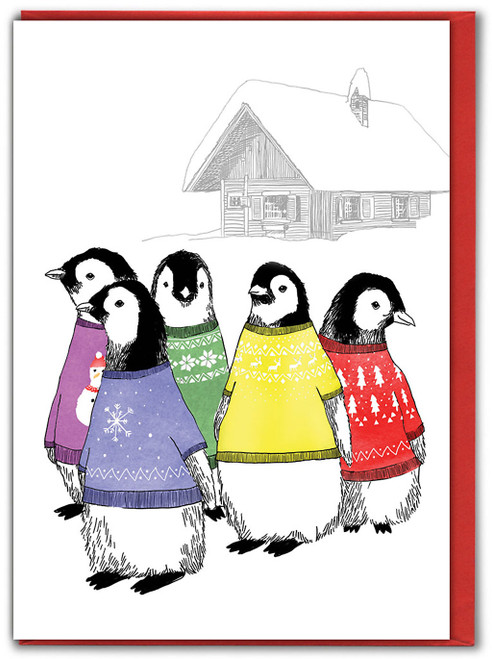 Penguin Jumpers Christmas Card