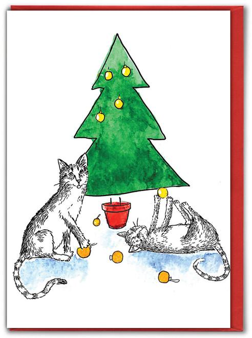 Cat-astrophe Christmas Card