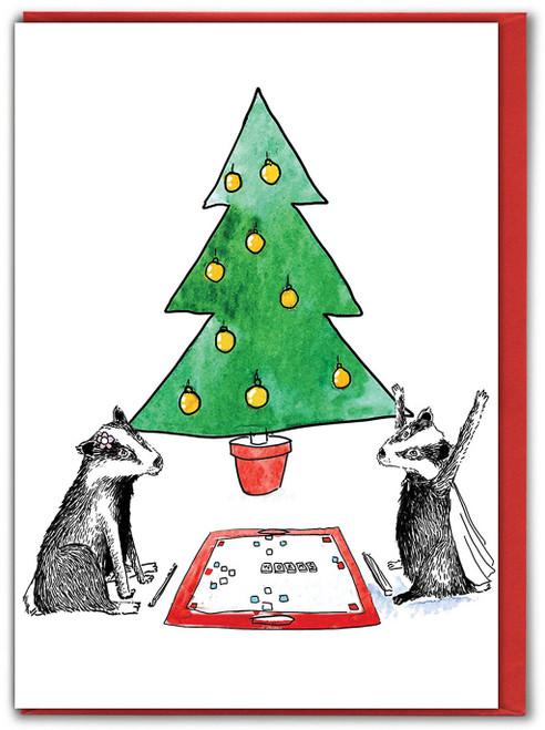 Badger Game Christmas Card
