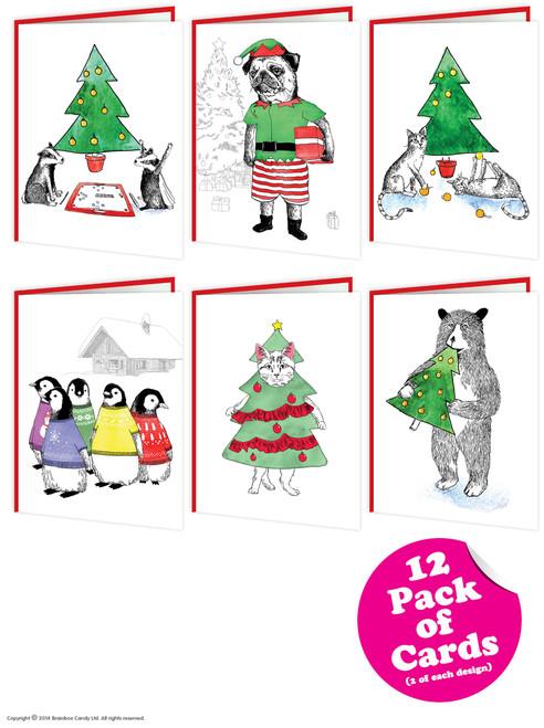 12 Pack of Christmas Cards - Jimbobart Range