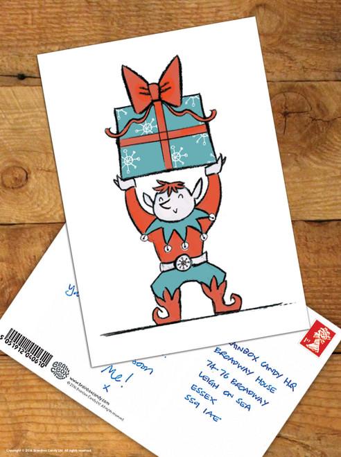 Elf Christmas Postcard