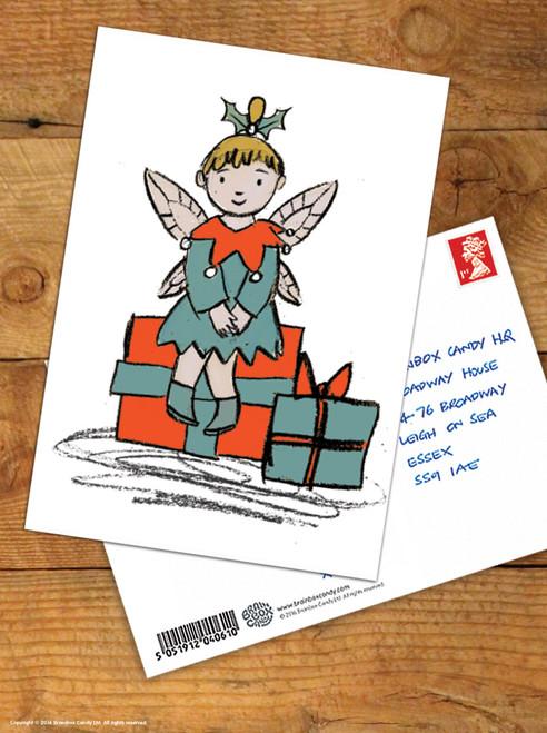 Fairy Presents Christmas Postcard