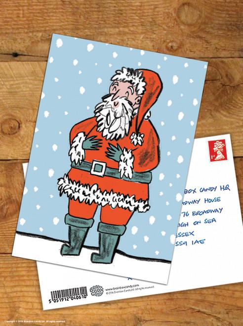 Happy Santa Christmas Postcard