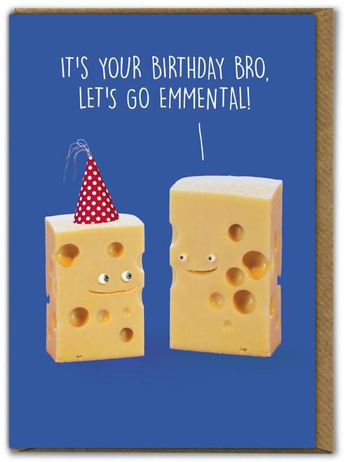 Brother Let's Go Emmental Birthday Card