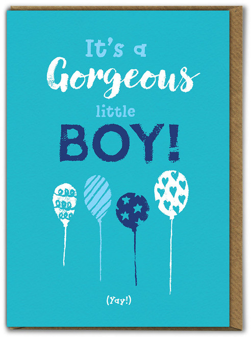 Gorgeous Little Boy New Baby Card