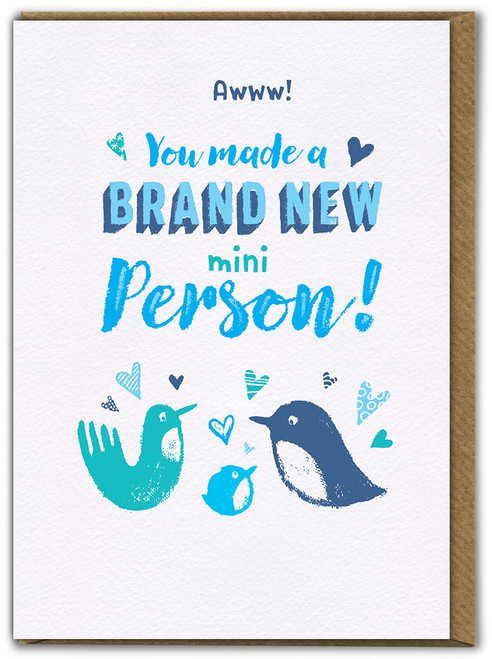Mini Person Boy New Baby Card