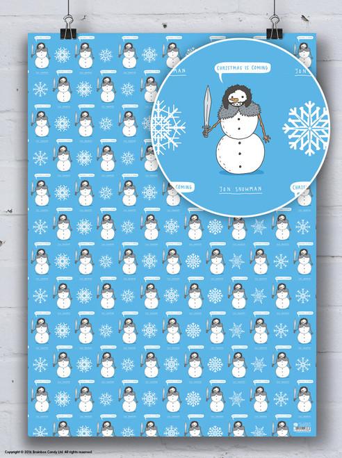 Jon Snowman Christmas Gift Wrap
