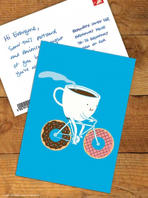 Coffee & Doughnuts Postcard