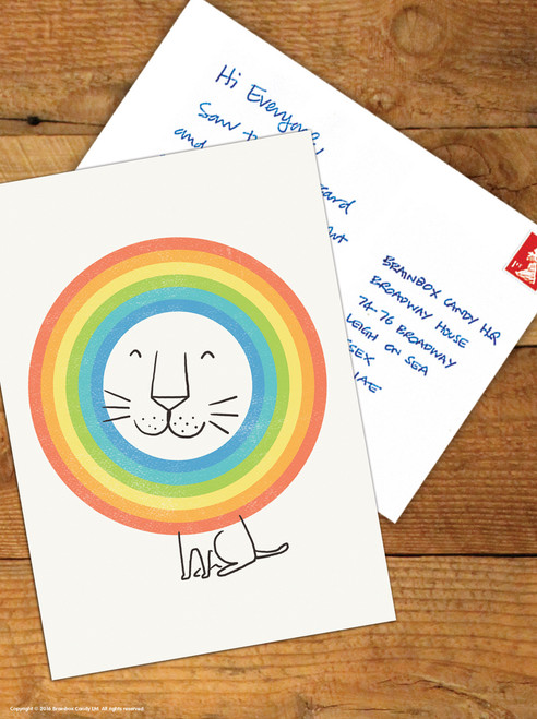 Happy Lion Postcard