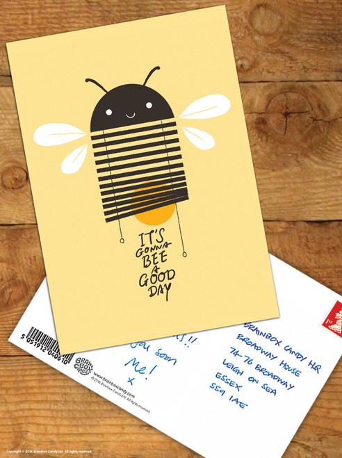 Bee A Good Day Postcard