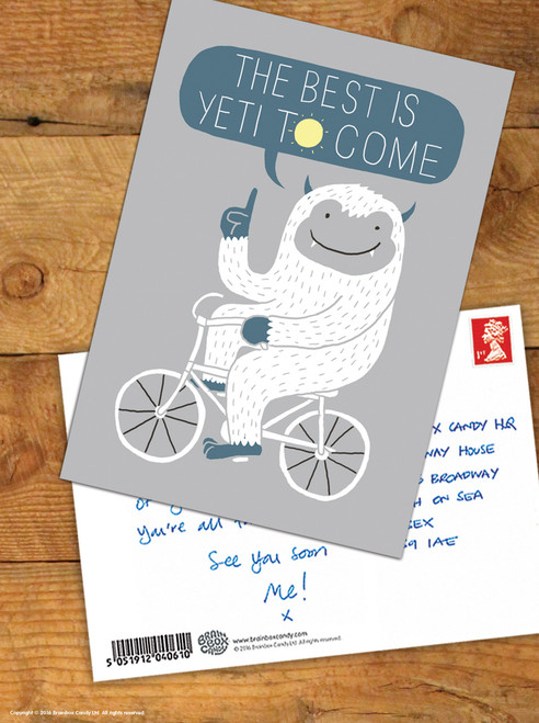 Best Is Yeti To Come Postcard