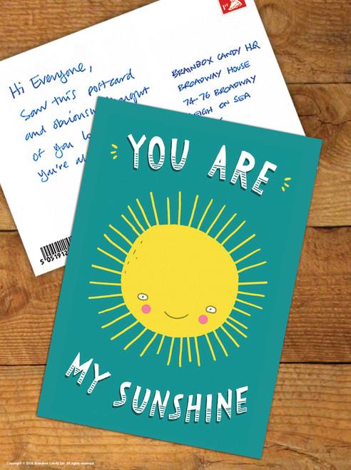 You Are My Sunshine Cute Postcard