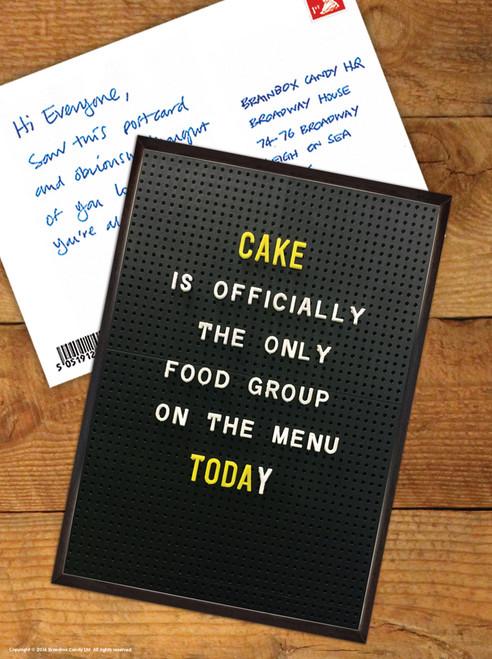 Cake Menu Postcard