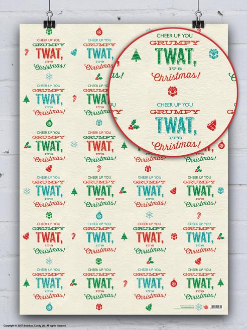 Grumpy Twat Christmas Gift Wrap