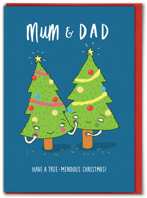 Mum & Dad Tree-Mendous Christmas Card