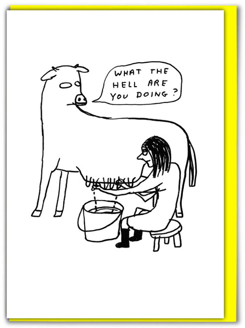 David Shrigley What The Hell Greetings Card