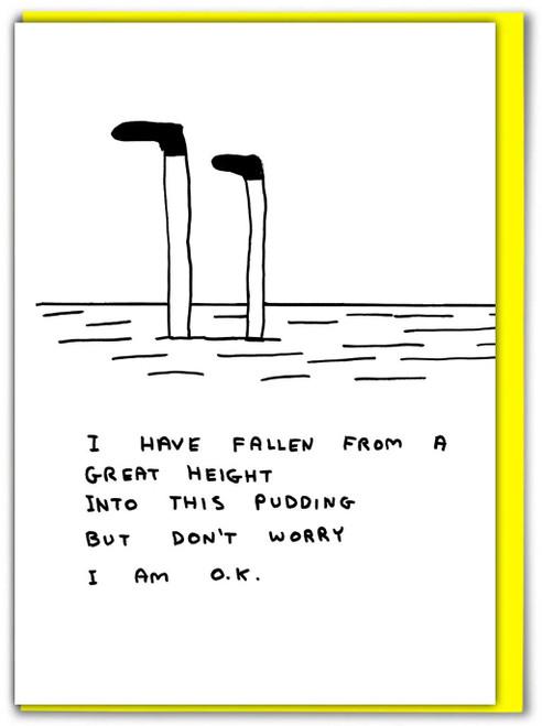 David Shrigley Pudding Greetings Card